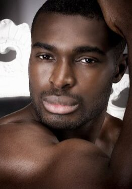 sexy black man with full lips
